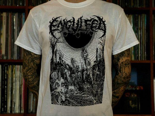 Engulfed - Through the Eternal Damnation (White) T-Shirt