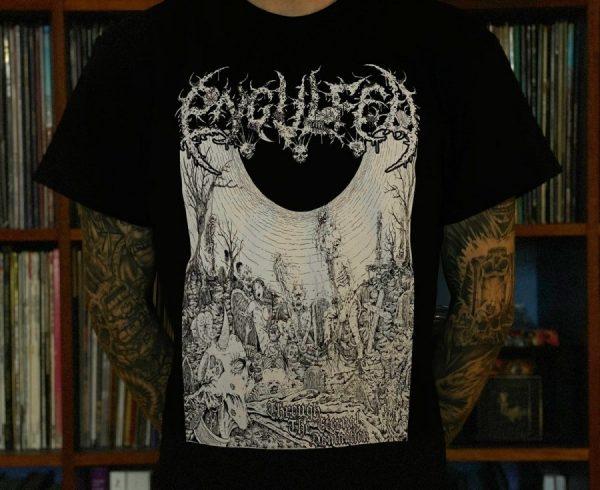 Engulfed - Through the Eternal Damnation (Black) T-Shirt